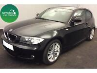 £184.85 PER MONTH BLACK 2010 BMW 118i 2.0M SPORT 3 DOOR PETROL MANUAL