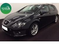 £152.89 PER MONTH BLACK 2012 SEAT LEON 1.4 TSI FR