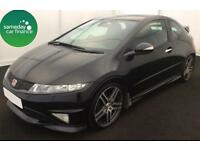 £155.10 PER MONTH BLACK 2009 HONDA CIVIC 2.0 VTEC TYPE R GT PETROL MANUAL