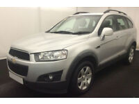 Silver Chevrolet Captiva 2.0 VCDI LT 7 SEAT LTX LTZ FROM £31 PER WEEK!