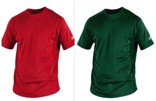 Rawlings Youth Short Sleeve Performance T-Shirt - Red or Green YSSBASE Size S-XL