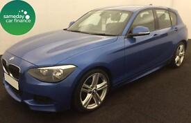 £241.27 PER MONTH BLUE 2013 BMW 118D 2.0 M SPORT 5 DOOR DIESEL MANUAL