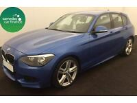 £218.87 PER MONTH BLUE 2013 BMW 118D 2.0 M SPORT 5 DOOR DIESEL MANUAL