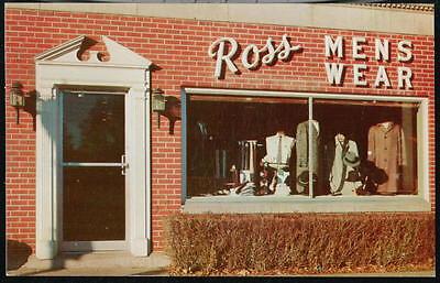 Maquoketa Ia Iowa Tom Ross Mens Wear Store Vintage Ad Postcard Advertising