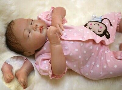 "Reborn Dolls 20"" Soft Silicone Vinyl Handmade Realistic Real Lifelik Baby Gifts"