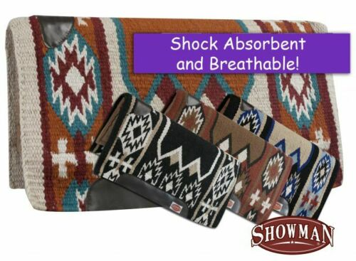 "Showman 36"" x 34"" Cutter Saddle Pad w/ Navajo Design & Memory Felt Bottom"