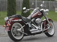 Exhaust shorty pour Harley softail
