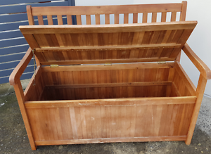 outdoor sitting bench with storage Chatswood Willoughby Area Preview
