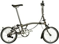 Brompton M3L Raw Lacquer 2017 A1 Excellent condition
