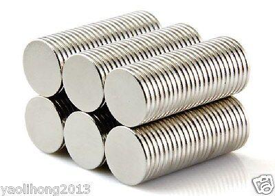 100pcs Neodymium Disc Mini 10mm X 1mm Rare Earth N50 Strong Magnets Craft Models