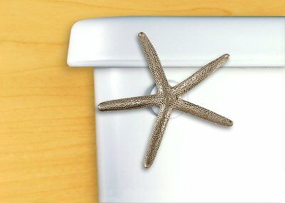 DECORATIVE Bath Tank Lever Toilet Flush Handle Starfish Satin