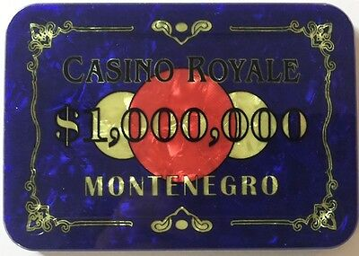 $1,000,000 CASINO ROYALE JAMES BOND POKER PLAQUE