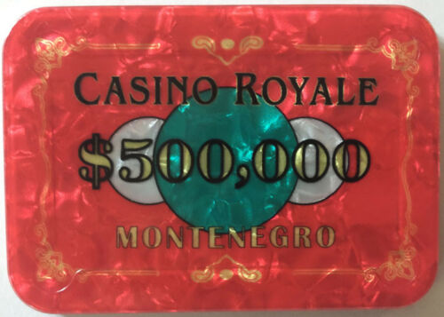 $500,000 JAMES BOND CASINO ROYALE POKER PLAQUE