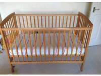 Babies Pine Babies R Us Ikea Baby Cot Bed Crib Moses Basket inc Mattress