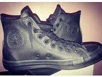 Black Converse - Leather