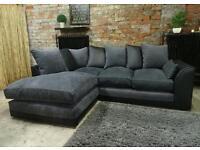 Black+Charcoal Corner Sofa*Excellent Clean Condition*