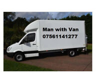 MAN WITH VAN/HOUSE/ OFFICE /STORAGE ROMOVAL SERVICE VAN HIRE