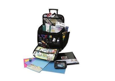 NW Large Scrapbook Rolling Travel Tote Craft Supplies Bag Storage Organizer Cart (Craft Totes)