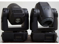 Pair 2 Martin Mac 250 Krypton Moving Heads Lighting Stage Club DJ DMX clay paky robe