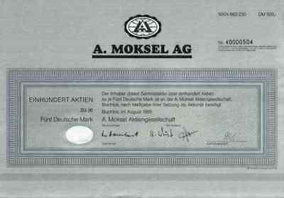 A. Moksel AG 1995 Buchloe März Rosenheim Merzig Vion Food Group 500 DM Bestmeat