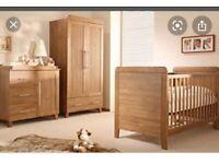 Baby style 3 piece nursery furniture set and Matteress