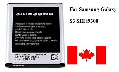 Brand New Samsung Galaxy S3 SIII Battery Replacement For i9300 i747 T99 - Canada for sale  Brampton
