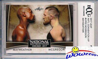 2017 Leaf #VIP02 Mayweather vs McGregor EXCLUSIVE National Promo BECKETT 10 MINT