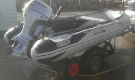 Honda Honwave 3.0 Metre Inflatable with BF15 Engine and launch trolley/trailer