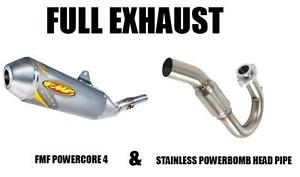 FMF FULL EXHAUST POWERCORE 4 AND POWERBOMB HEAD SUZUKI DRZ400E DRZ 400 E DRZ400