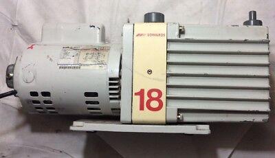 Edwards E2m-18 High Vacuum Pump W 34 Hp Ge Motor