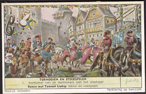 "1957 Liebig's ""Tourneys and Jousts""."