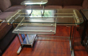 ✿EUC Tempered Glass Computer Desk