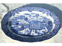 Serving Platter Blue and White Pattern purchased from an Antique Shop