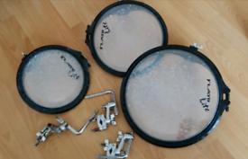 """Arbiter flats drum Tom 10""""12""""14 and Gibraltar Tom holders"""