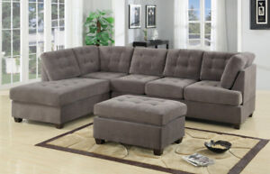 New Grey Sectional Sofa with Reversible chaise! FREE Shipping!