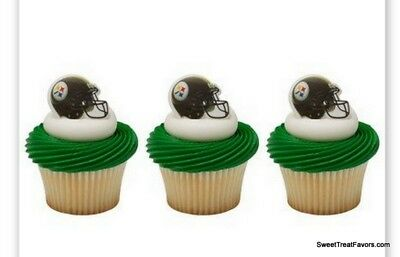 Pittsburgh Steelers CupCake Cake Topper 18 24 Decoration Birthday NFL Football * (Steelers Cupcake Toppers)