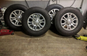 Dodge Ram 3500 (Tires & Rims) 90% Tread Asking $1000 obo