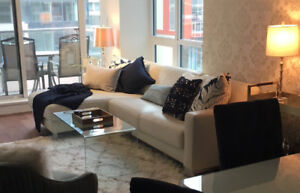 Ivory Coloured Italian Leather Sectional Sofa-LHF