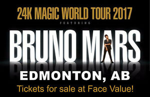 3 Tix to Bruno Mars July 30 -would be a great Graduation Gift!