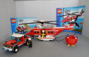 Complete Lego Set - Fire Helicopter (7206)