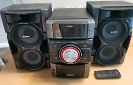SONY GENEZI RADIO CD iPOD DOCK 380 WATT OUTPUT MHC-EC791 COMPONENT HI
