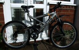 """*RALEIGH MAX 18 SPEED 26"""" WHEEL FULL SUSPENSION DOWNHILL STYLE BIKE - VIRTUALLY AS NEW - MINT*"""