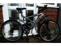 "*RALEIGH MAX 18 SPEED 26"" WHEEL FULL SUSPENSION DOWNHILL STYLE BIKE - VIRTUALLY AS NEW - MINT*"