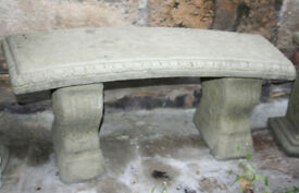 Stone Curved Bench in three parts