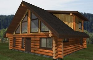 Log Home Shell For Sale