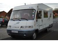 Hymer B584 A Class Motorhome for Sale Three Berth Three Seatbelts Solar Panel