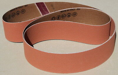 New 2 x 72 Ceramic P50 Grit Sanding Belts- Norton 3rd Gen Grain-Cerpass (5 pc)
