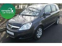£155.25 PER MONTH GREY 2011 VAUXHALL ZAFIRA 1.7 ECOFLEX ELITE MANUAL DIESEL