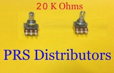 20 K Ohm Linear Panel Mount Volume Control Potentiometer B20k 2 Pieces