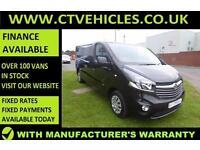 2016 16 plate Vauxhall Vivaro 1.6CDTi Sportive 2900 L2H1 LWB SAT/NAV Van black